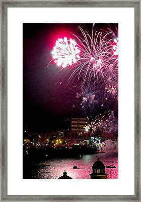 Shot From Our Balcony Framed Print by Crystal Loppie