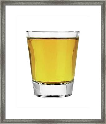 Framed Print featuring the photograph Shot Of Whiskey by Jim Hughes