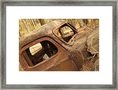 Shot To Rot Framed Print by Maureen Norcross