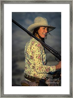 Shotgun Annie Western Art By Kaylyn Franks Framed Print