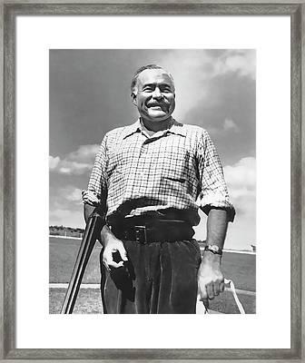 Shotgun Hemingway Framed Print by Daniel Hagerman