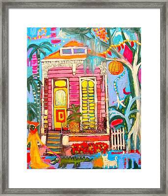 Shotgun House On The Bayou Framed Print