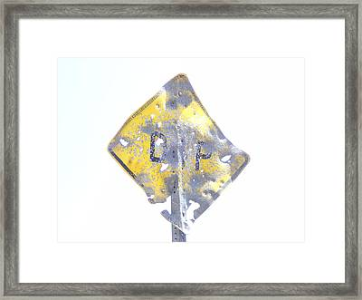 Shotgun Warning Framed Print by Roman Lezo