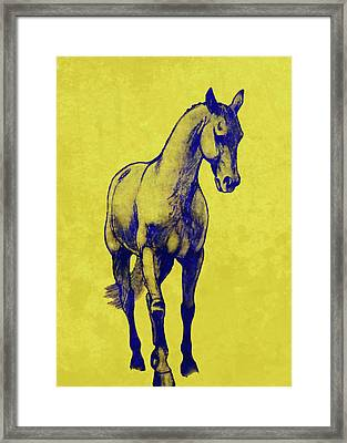 Shoulder-in Duotone Framed Print by JAMART Photography