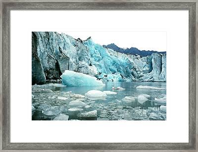 Shoup Glacier Framed Print by Frank Townsley