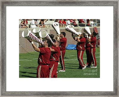 Shout Out Framed Print by Allen Simmons