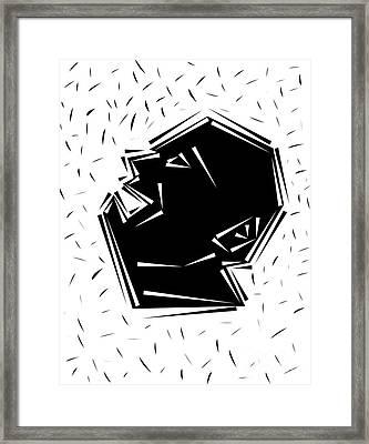 Shout Framed Print
