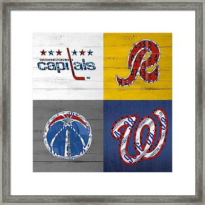 Shout To #washingtondc #capitals Framed Print by Design Turnpike