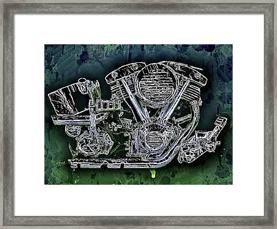 Harley - Davidson Shovelhead Engine Framed Print