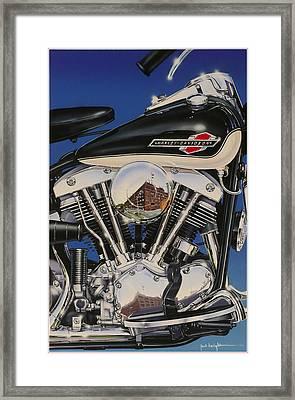 Shovelhead Motor Framed Print by Jack Knight