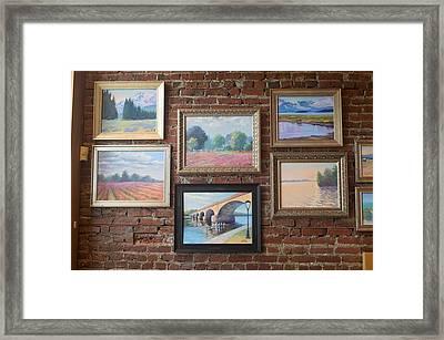 Dora's Paintings Framed Print