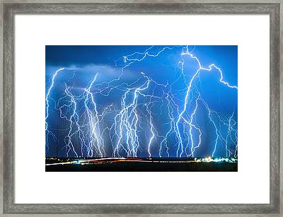 Show On Broadway Ave Framed Print