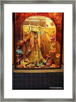 Show Window Framed Print