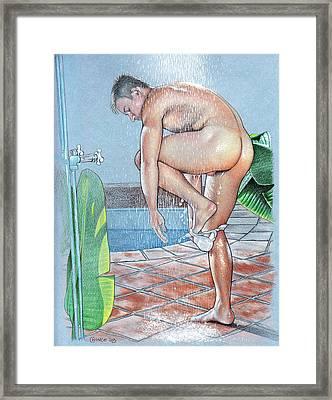 Shower Framed Print by Chance Manart