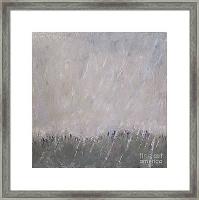 Shower In The Field Framed Print