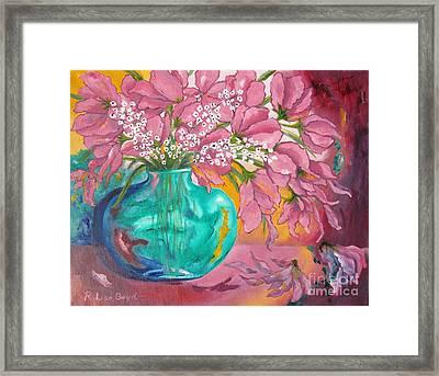 Shower Of Pink Framed Print