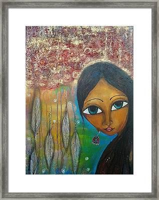 Shower Of Roses Framed Print by Prerna Poojara