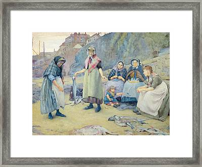 Showing Fish Framed Print by Thomas Cooper Gotch