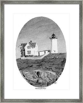 Showing The Way Framed Print