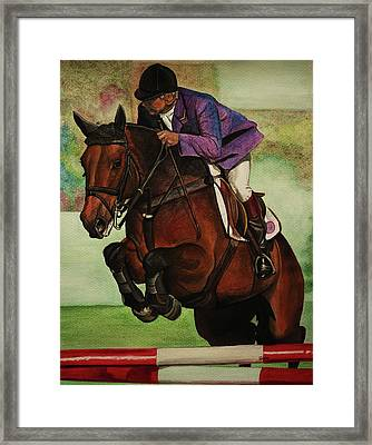Showjumping Framed Print by Lucy Deane