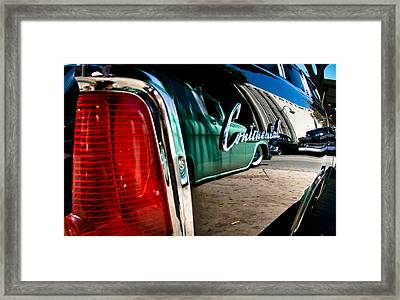 Showlow And Tribe In The Mirror Framed Print by Michael Kerckaert