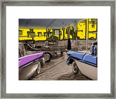 Framed Print featuring the photograph Showroom Chebys by Thomas Bomstad