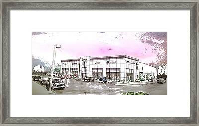 Showroom Rendering Framed Print