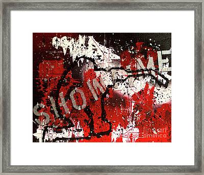 Showtime At The Madhouse Framed Print by Melissa Goodrich