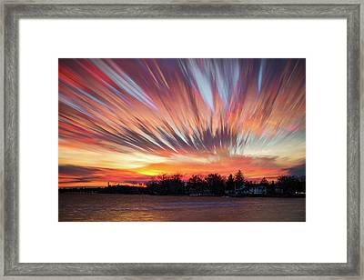 Shredded Sunset Framed Print