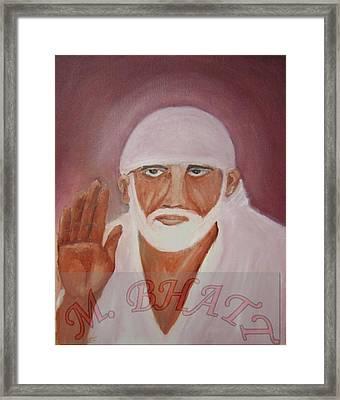 Shree Saibaba Framed Print by M bhatt