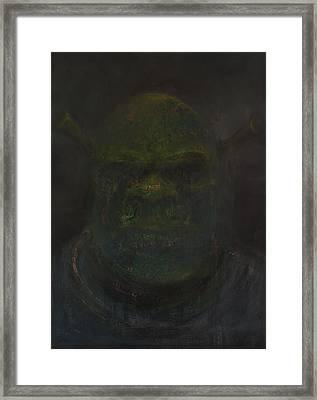Shrek Framed Print by Antonio Ortiz