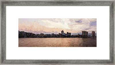 Shreveport Pano Framed Print