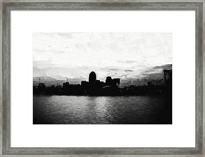 Shreveport Skyline Framed Print
