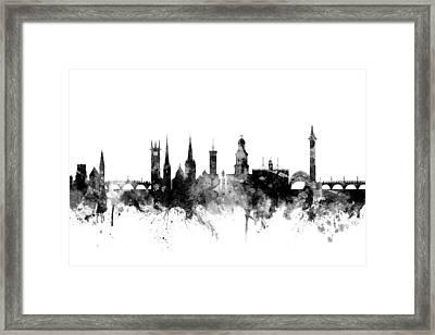 Shrewsbury England Skyline Framed Print