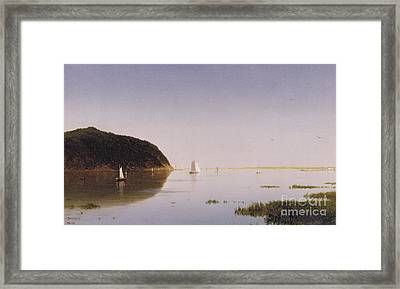 Shrewsbury River - New Jersey Framed Print by John Frederick Kensett