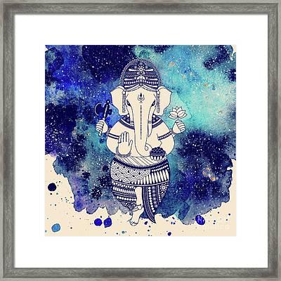 Shri Ganesha Framed Print by Marina Demidova