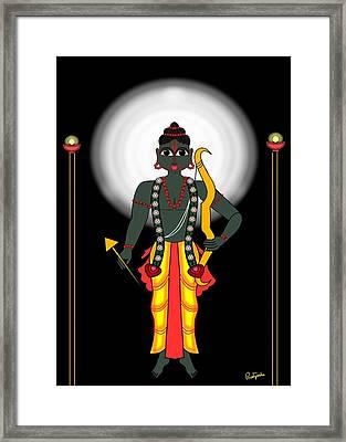 Shri Rama Framed Print by Pratyasha Nithin