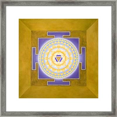 Shri Saraswati Yantra Framed Print