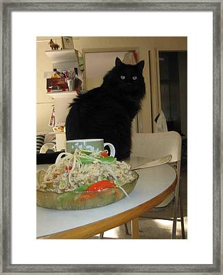 Framed Print featuring the photograph Shrimp by AJ Brown