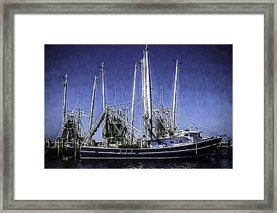 Shrimp Boat Docked In Biloxi Framed Print