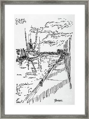 Shrimp Boat From The Harbor Framed Print