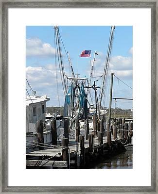 Shrimp Boat Framed Print by Kim Zwick