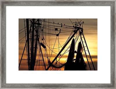 Shrimp Boat Rigging Framed Print by Dustin K Ryan