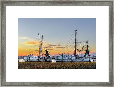 Shrimp Boats Framed Print by Drew Castelhano