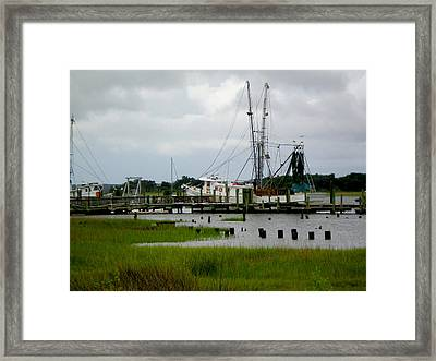 Shrimp Boats Framed Print by Jeffrey Zipay