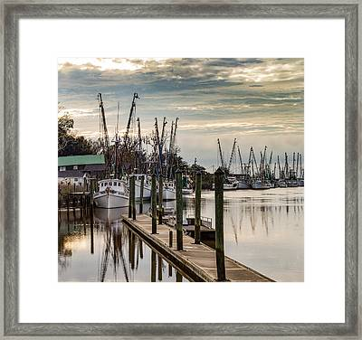 Shrimp Boats On Darien River Framed Print