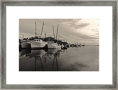 Shrimp Boats On The Altamaha Framed Print