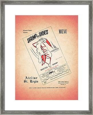 Shrimp In Shorts 1950s Framed Print
