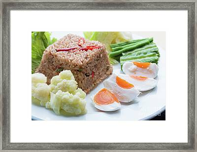 Framed Print featuring the photograph Shrimp Paste Fried Rice by Atiketta Sangasaeng