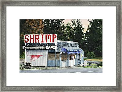 Shrimp Framed Print by Perry Woodfin